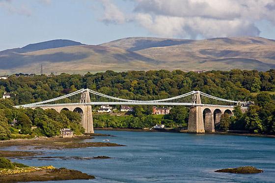 Wales - WCP - Menai Suspension Bridge