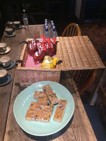Snacks provided by the boys