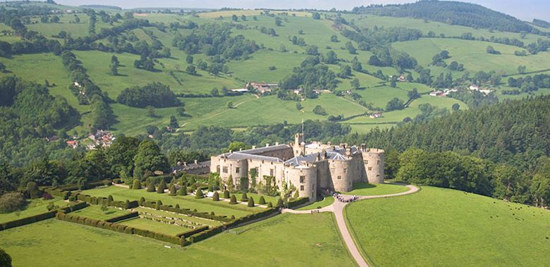 Chirk Castle Aerial North Castles Historic Sites