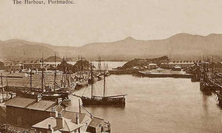 Caernarfonshire,PortmadogHarbourc_1908