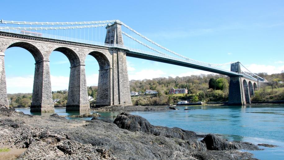 Menai bridge - Lets go with the children