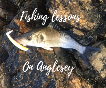 fishing lessson on Anglesey