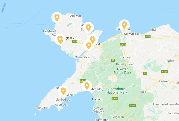 Seafood restaurants in north Wales