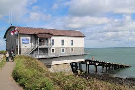 RNLI Moyelfre Lifeboat station and Lifeboat. Image RNLI.org
